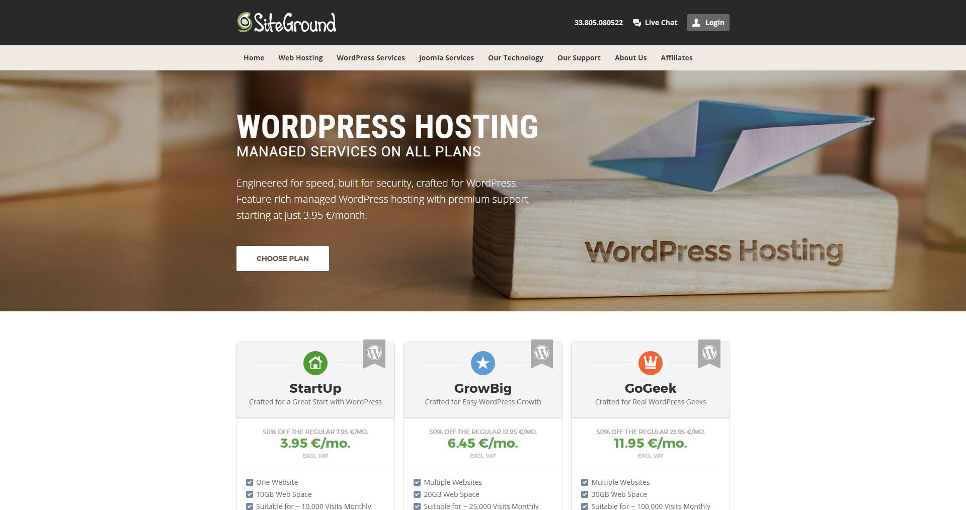 Wordpress-siteground